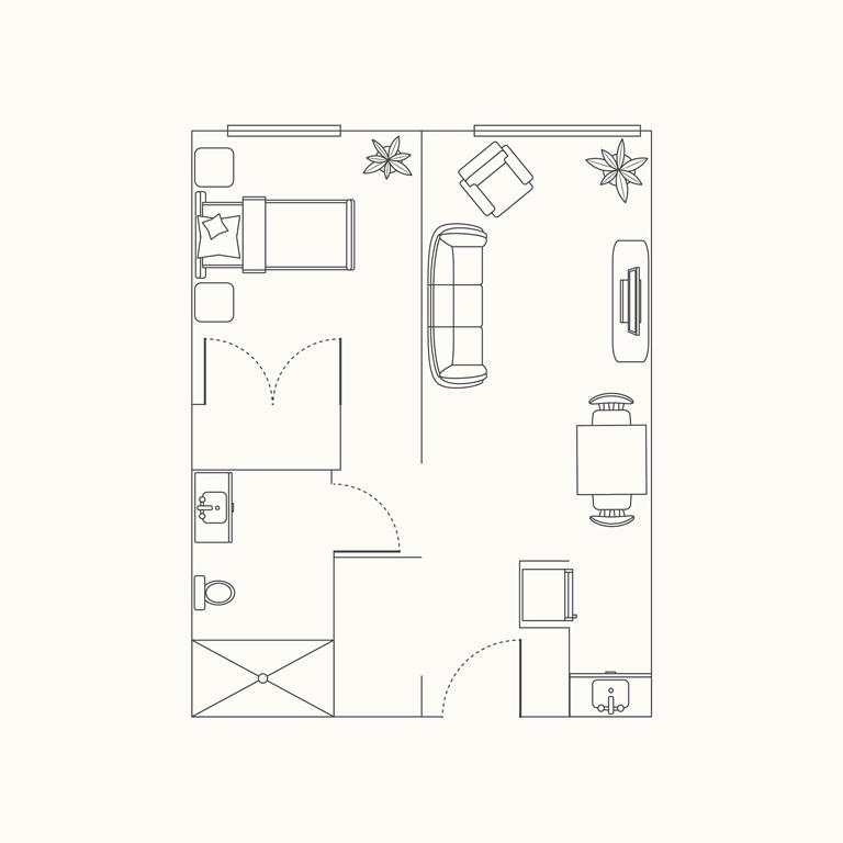 Plan B - 1 Bedroom