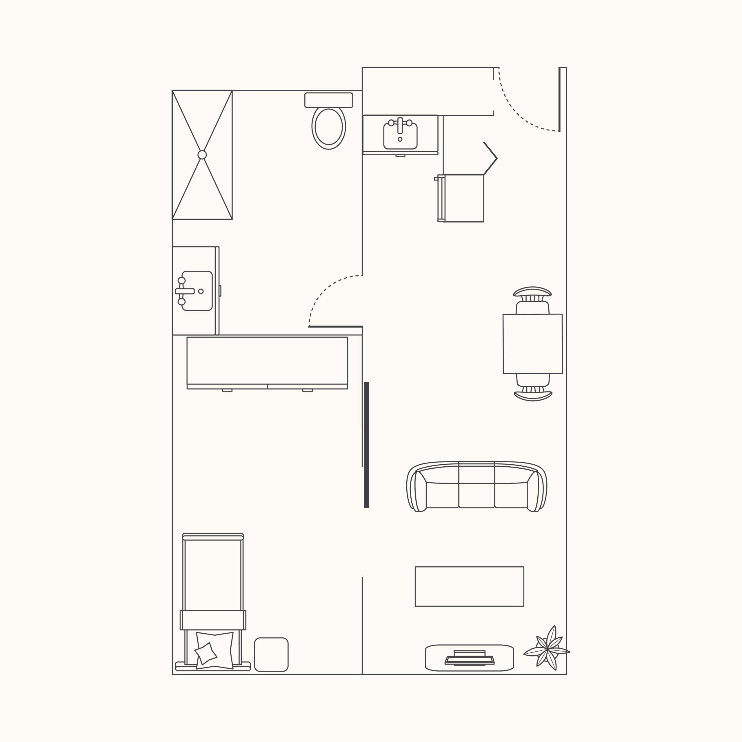 Plan A - 1 Bedroom