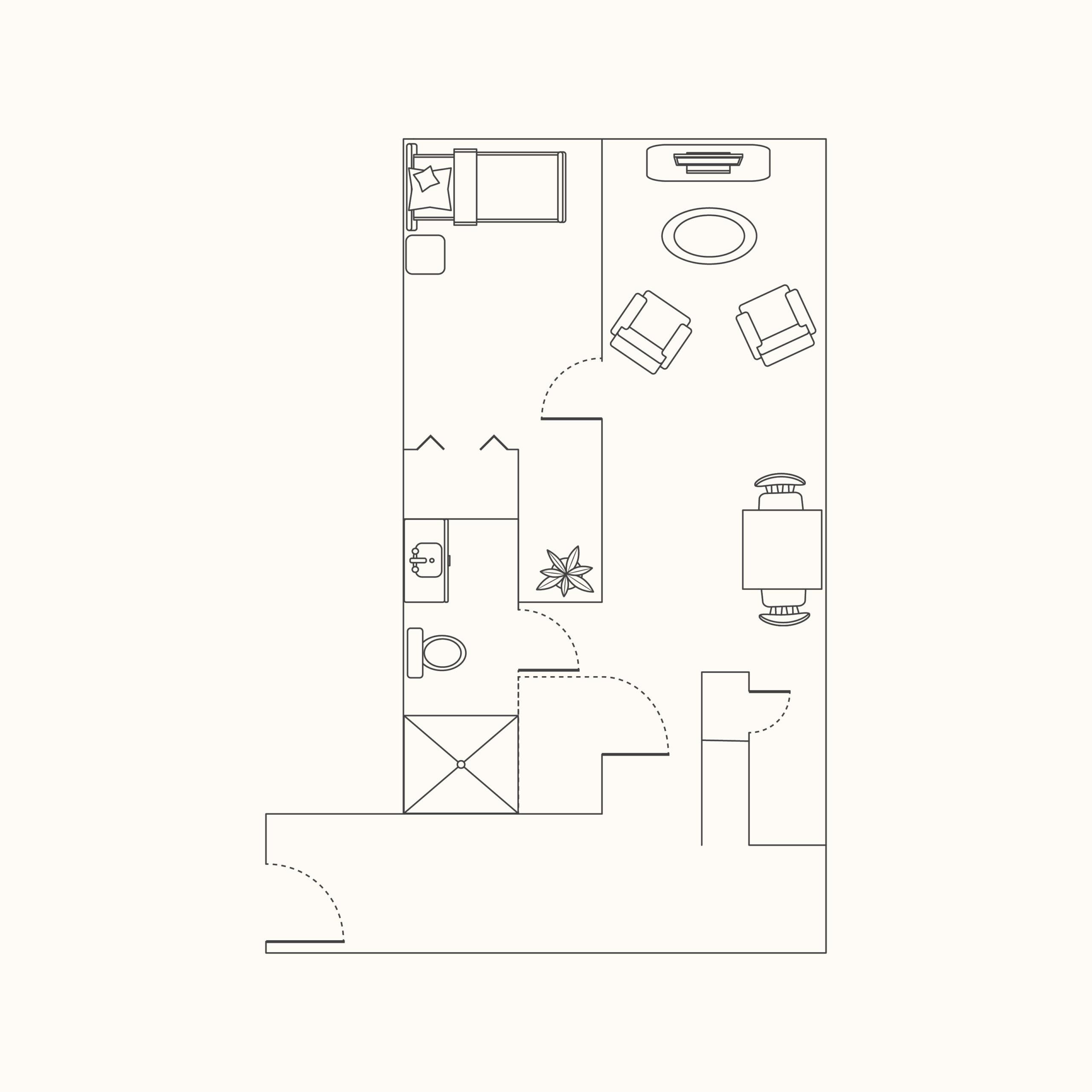 Plan C - 1 Bedroom